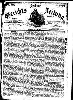 Berliner Gerichts-Zeitung vom 08.07.1890
