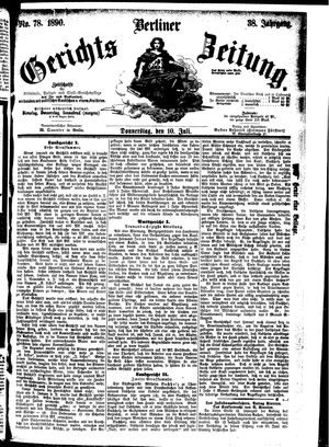 Berliner Gerichts-Zeitung vom 10.07.1890