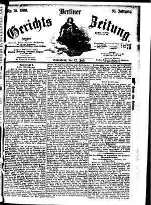 Berliner Gerichts-Zeitung vom 12.07.1890