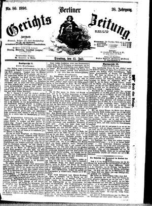 Berliner Gerichts-Zeitung vom 15.07.1890