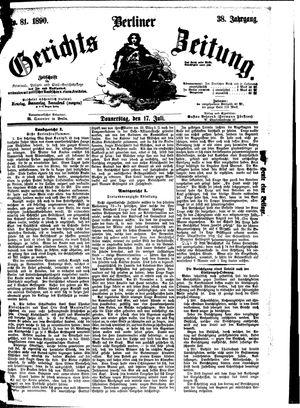 Berliner Gerichts-Zeitung vom 17.07.1890