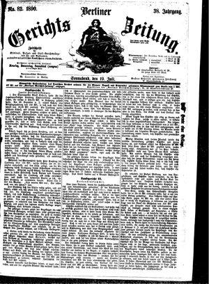 Berliner Gerichts-Zeitung vom 19.07.1890