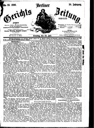 Berliner Gerichts-Zeitung vom 22.07.1890