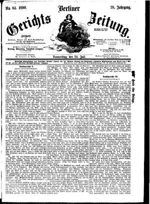 Berliner Gerichts-Zeitung vom 24.07.1890
