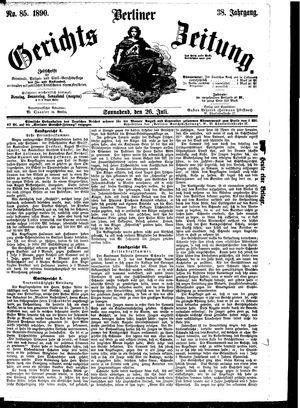 Berliner Gerichts-Zeitung vom 26.07.1890
