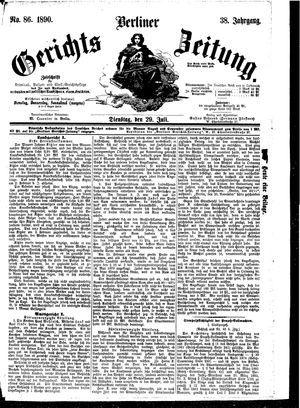 Berliner Gerichts-Zeitung vom 29.07.1890