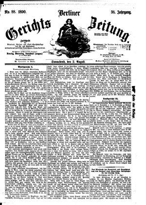 Berliner Gerichts-Zeitung vom 02.08.1890