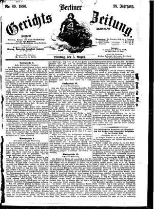 Berliner Gerichts-Zeitung vom 05.08.1890