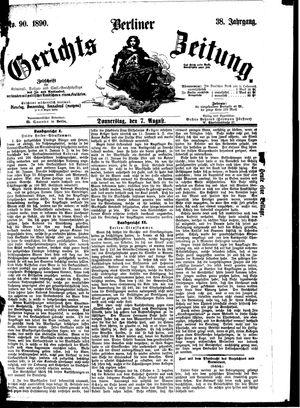 Berliner Gerichts-Zeitung vom 07.08.1890