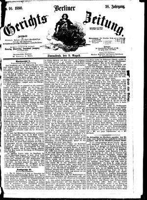 Berliner Gerichts-Zeitung vom 09.08.1890