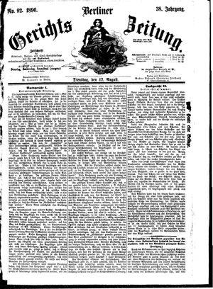 Berliner Gerichts-Zeitung vom 12.08.1890