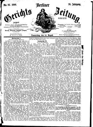 Berliner Gerichts-Zeitung vom 14.08.1890