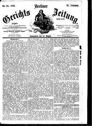 Berliner Gerichts-Zeitung vom 16.08.1890