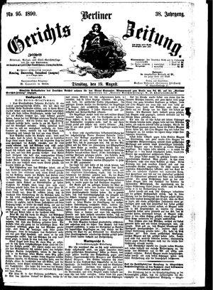 Berliner Gerichts-Zeitung vom 19.08.1890