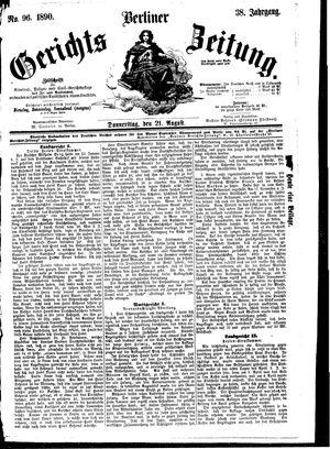 Berliner Gerichts-Zeitung vom 21.08.1890