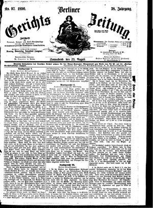 Berliner Gerichts-Zeitung vom 23.08.1890