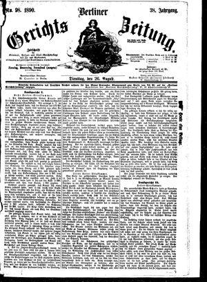 Berliner Gerichts-Zeitung vom 26.08.1890