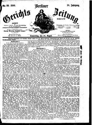 Berliner Gerichts-Zeitung vom 28.08.1890