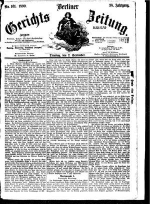Berliner Gerichts-Zeitung vom 02.09.1890