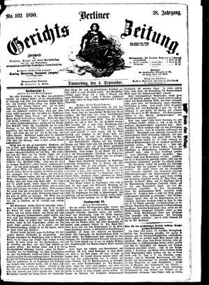 Berliner Gerichts-Zeitung vom 04.09.1890