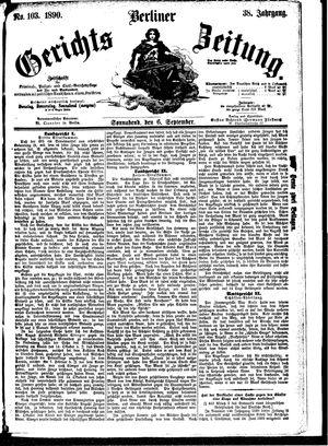 Berliner Gerichts-Zeitung vom 06.09.1890