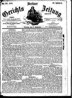 Berliner Gerichts-Zeitung vom 09.09.1890