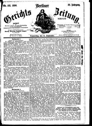 Berliner Gerichts-Zeitung vom 11.09.1890