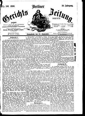 Berliner Gerichts-Zeitung vom 13.09.1890