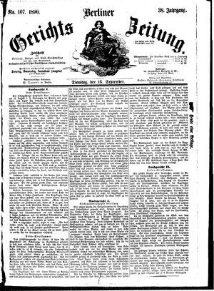 Berliner Gerichts-Zeitung vom 16.09.1890