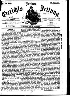 Berliner Gerichts-Zeitung vom 18.09.1890