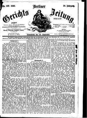Berliner Gerichts-Zeitung vom 20.09.1890
