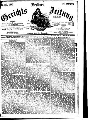 Berliner Gerichts-Zeitung vom 23.09.1890
