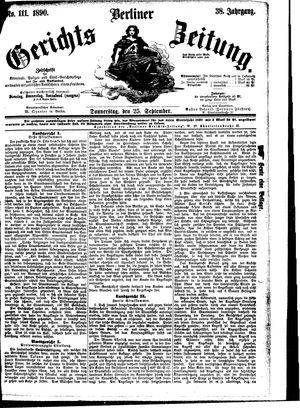 Berliner Gerichts-Zeitung vom 25.09.1890