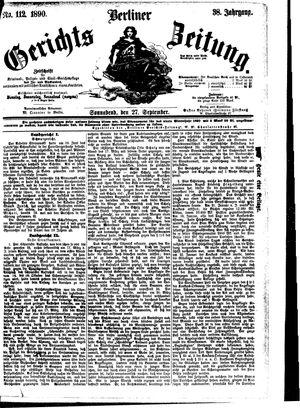 Berliner Gerichts-Zeitung vom 27.09.1890