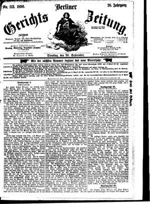 Berliner Gerichts-Zeitung vom 30.09.1890