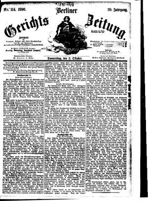 Berliner Gerichts-Zeitung vom 02.10.1890