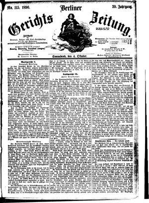 Berliner Gerichts-Zeitung vom 04.10.1890