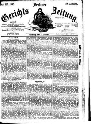 Berliner Gerichts-Zeitung vom 07.10.1890