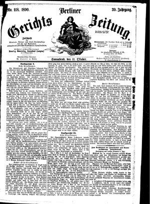 Berliner Gerichts-Zeitung vom 11.10.1890