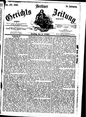 Berliner Gerichts-Zeitung vom 14.10.1890