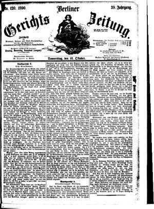 Berliner Gerichts-Zeitung vom 16.10.1890