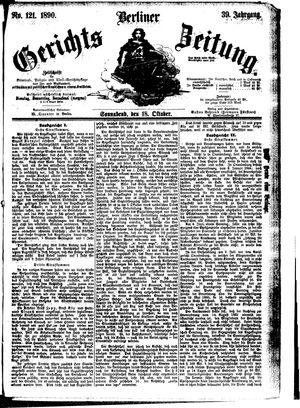 Berliner Gerichts-Zeitung vom 18.10.1890