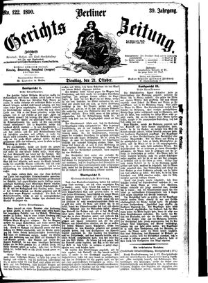 Berliner Gerichts-Zeitung vom 21.10.1890