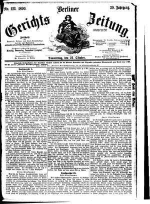 Berliner Gerichts-Zeitung vom 23.10.1890