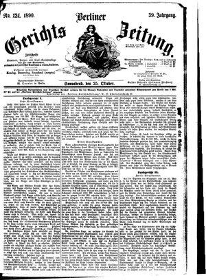 Berliner Gerichts-Zeitung vom 25.10.1890