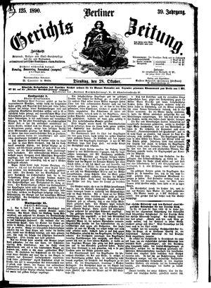 Berliner Gerichts-Zeitung vom 28.10.1890