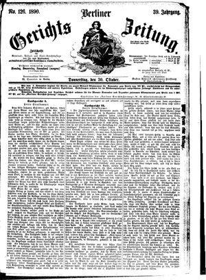 Berliner Gerichts-Zeitung vom 30.10.1890