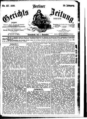 Berliner Gerichts-Zeitung vom 01.11.1890