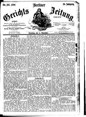 Berliner Gerichts-Zeitung vom 04.11.1890
