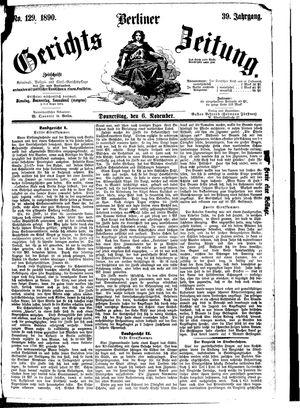 Berliner Gerichts-Zeitung vom 06.11.1890